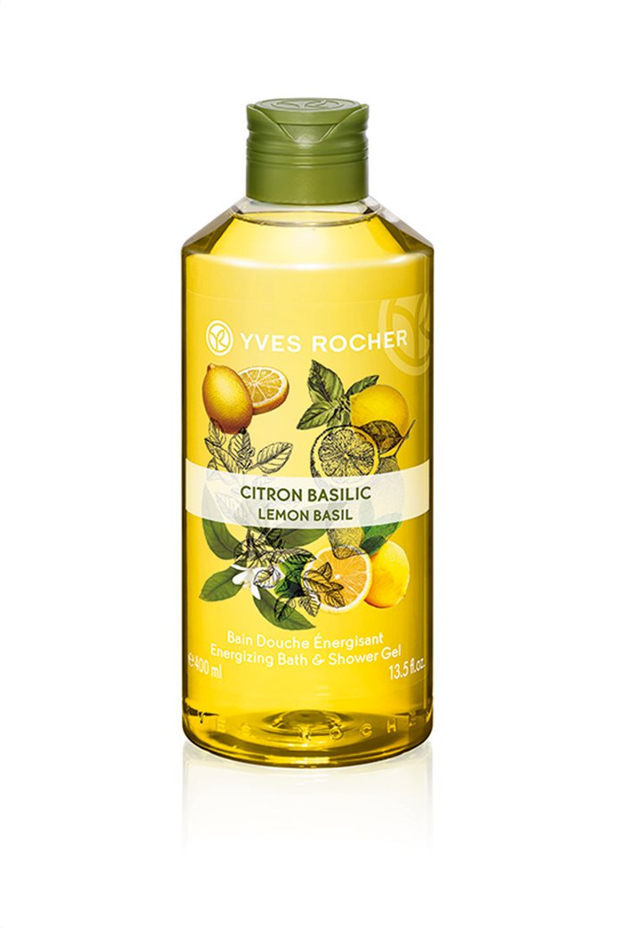 Yves Rocher Energizing Bath and Shower Gel Lemon Basil 400 ml 0