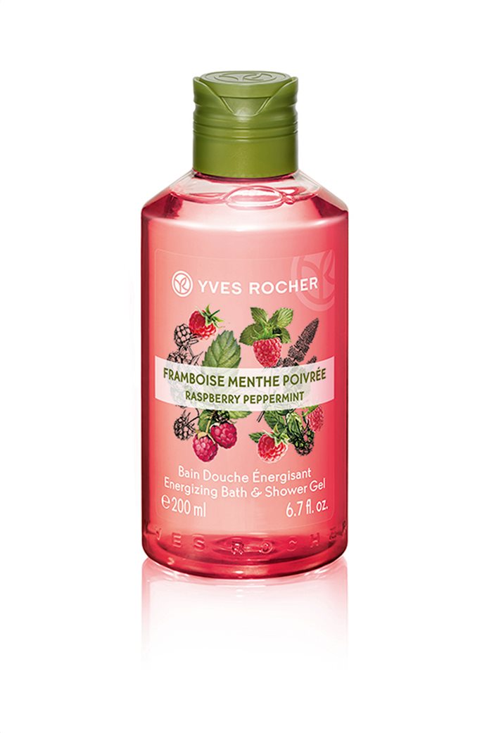 Yves Rocher Energizing Bath and Shower Gel Raspberry Peppermint 200 ml 0