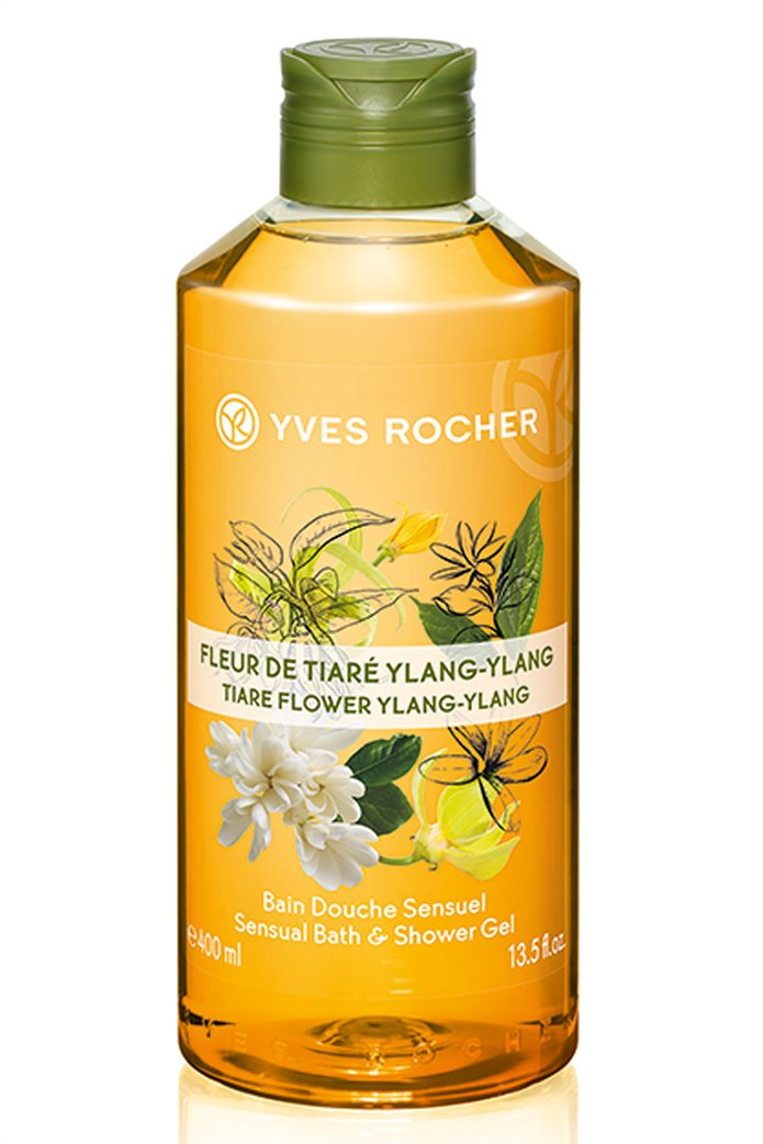 Yves Rocher Sensual Shower Gel Tiaré Flower Ylang Ylang 400 ml 0