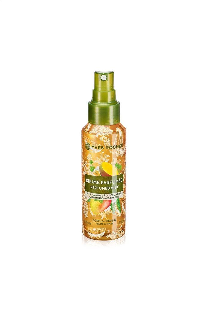Yves Rocher Energizing Perfumed Mist Mango Coriander for Hair & Body 100 ml  0