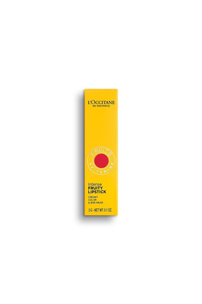 L'Occitane Intense Fruity Lipstick Rouge Craquant 3 gr 2