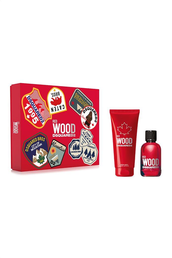 Dsquared2 Set Wood Pour Femme Red Eau de Toilette 100 ml + Bath & Shower Gel 150 ml Spring 2021  0