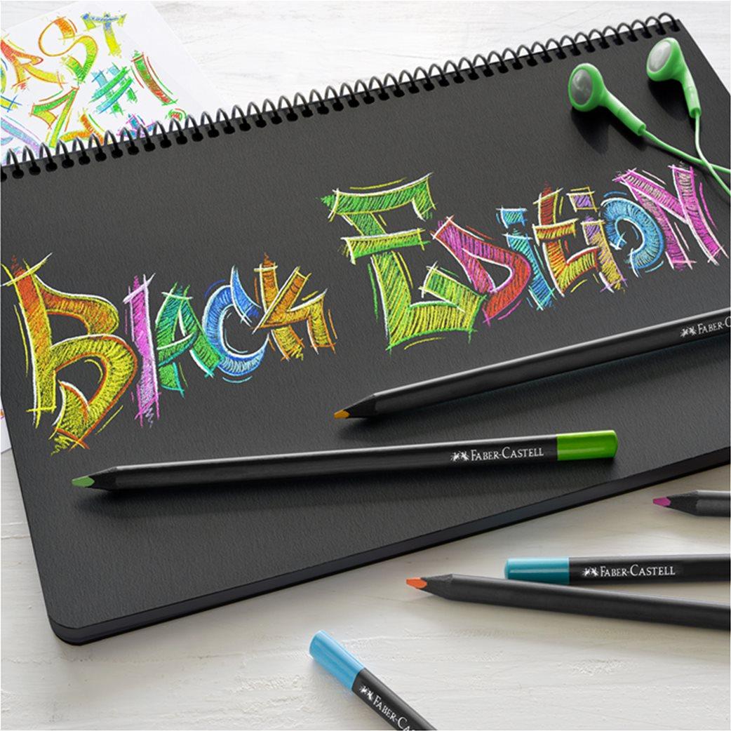 Faber-Castell Ξυλομπογιές Black Edition Σετ 12 χρώματα 2