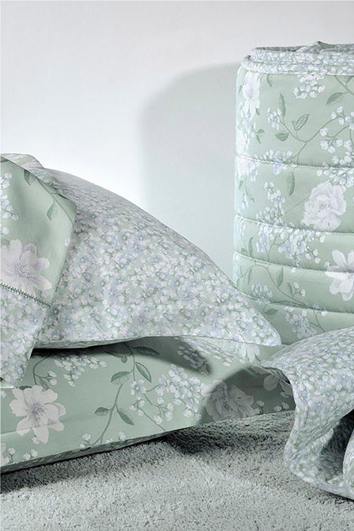 "DOWN TOWN Home Σετ μαξιλαροθήκες με floral σχέδιο ""Oxford 696"" 52 x 75 cm +5 Πράσινο 0"