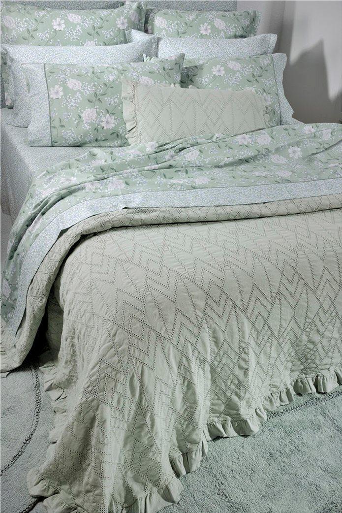 "DOWN TOWN Home Σετ μαξιλαροθήκες με floral σχέδιο ""Oxford 696"" 52 x 75 cm +5 Πράσινο 1"