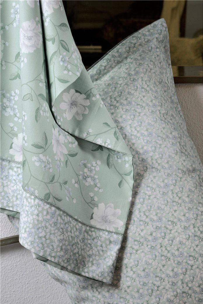 "DOWN TOWN Home Σετ μαξιλαροθήκες με floral σχέδιο ""Oxford 696"" 52 x 75 cm +5 Πράσινο 2"