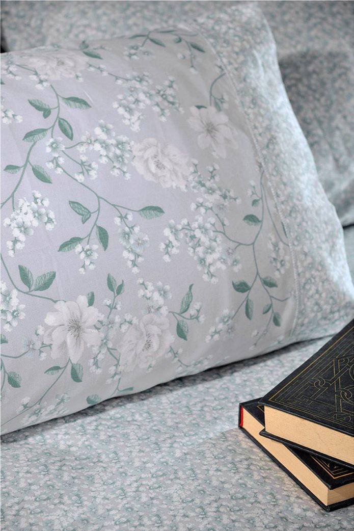 "DOWN TOWN Home Σετ μαξιλαροθήκες με floral σχέδιο ""Oxford 697"" 52 x 75 cm +5 Γκρι 0"