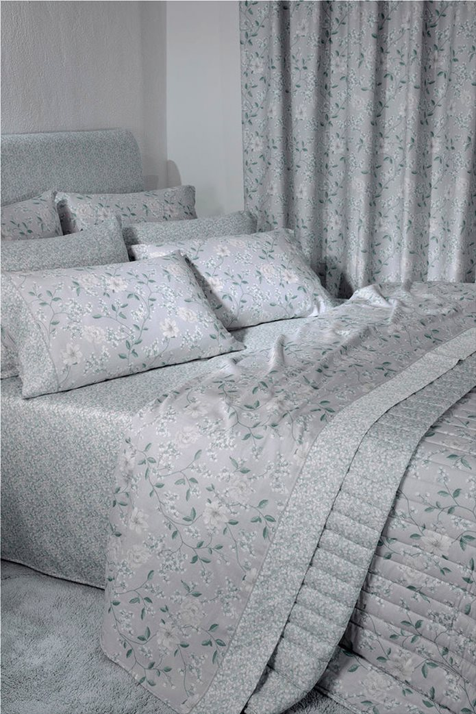 "DOWN TOWN Home Σετ μαξιλαροθήκες με floral σχέδιο ""Oxford 697"" 52 x 75 cm +5 Γκρι 1"