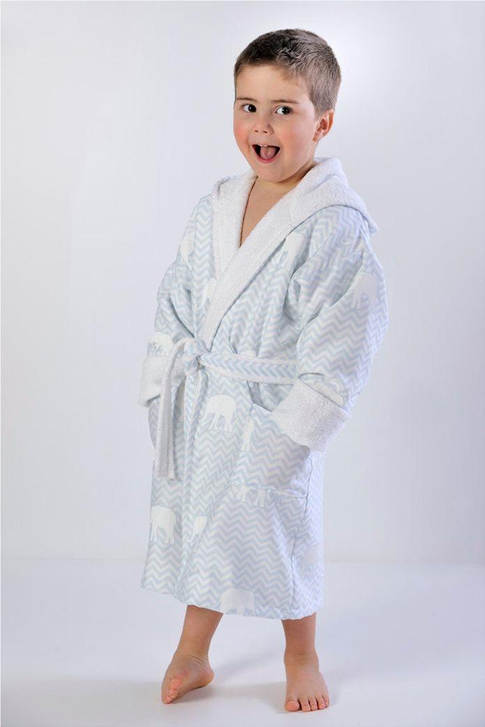 """DOWN TOWN Home παιδικό μπουρνούζι με σχέδιο ελεφαντάκι και κουκούλα """"687"""" Νο.2 0"""