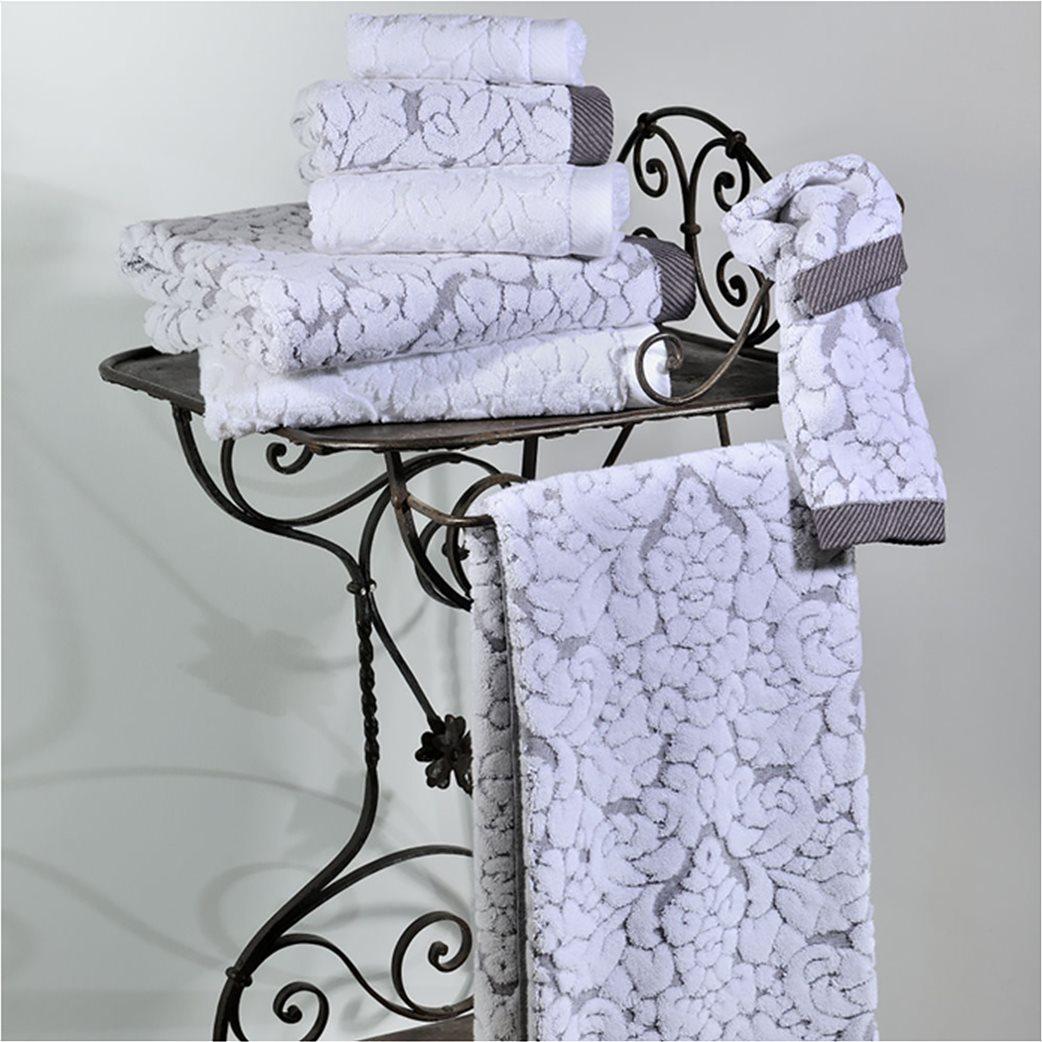 DOWN TOWN Home Σετ πετσέτες μπάνιου Classic 650 Γκρι (3 τεμάχια)   2