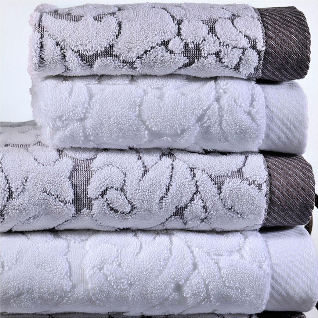 DOWN TOWN Home Σετ πετσέτες μπάνιου Classic 650 Λευκό (3 τεμάχια)   1