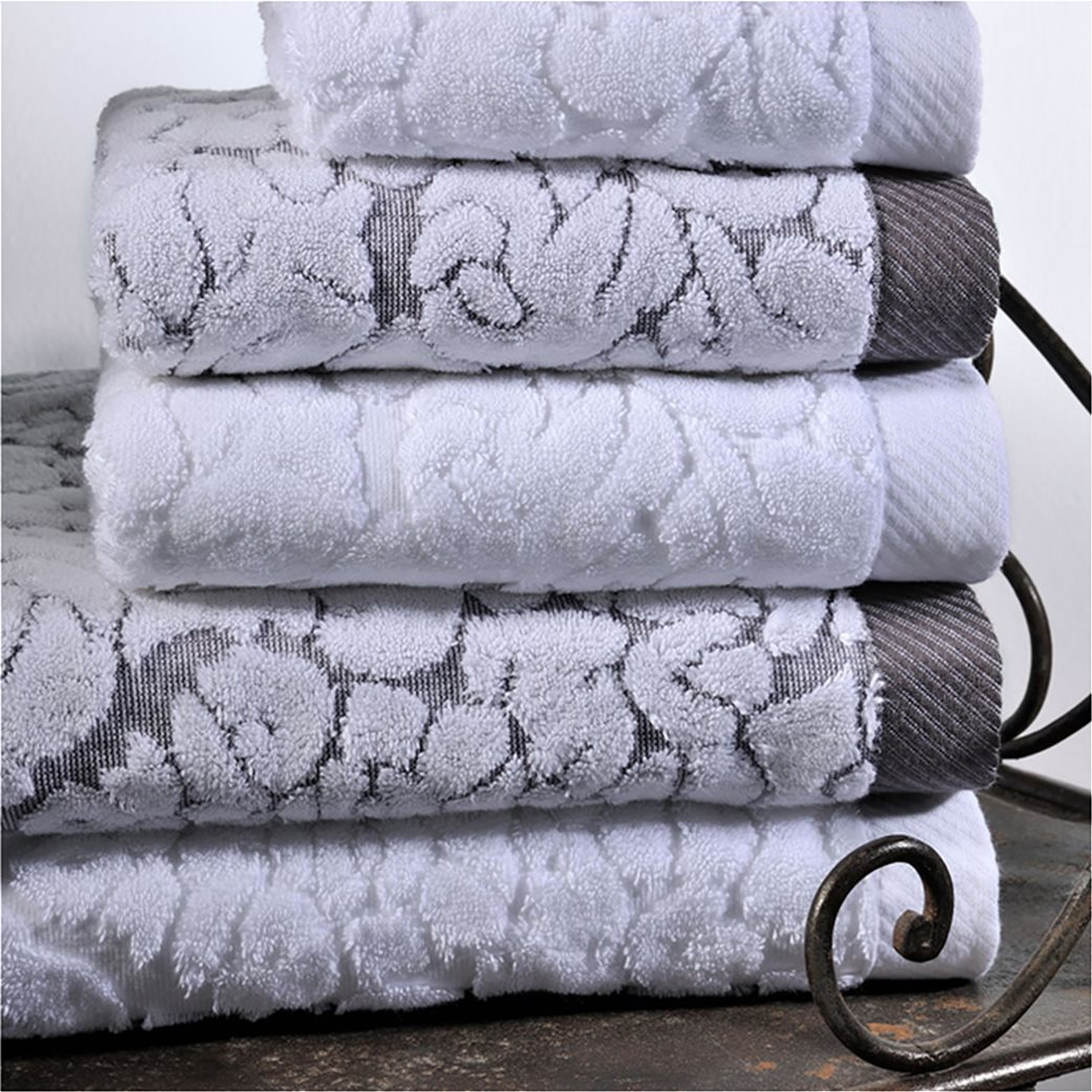 DOWN TOWN Home Σετ πετσέτες μπάνιου Classic 650 Λευκό (3 τεμάχια)   2