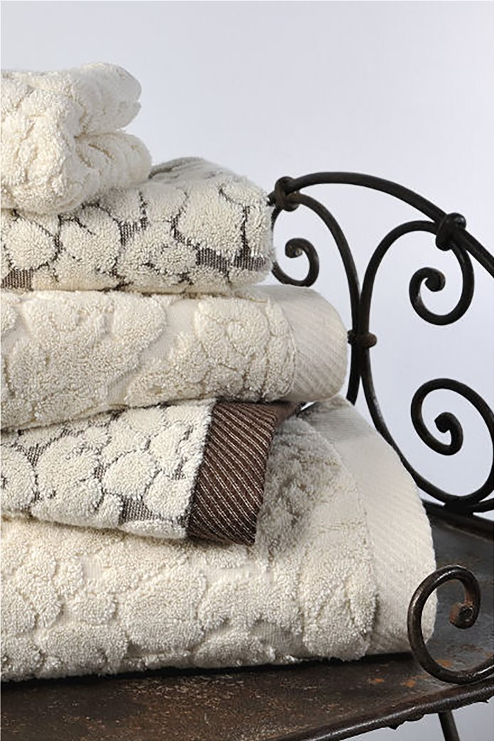 DOWN TOWN Home Σετ πετσέτες μπάνιου Classic 650 Εκρού (3 τεμάχια)   0