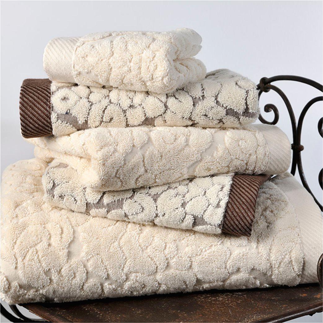 DOWN TOWN Home Σετ πετσέτες μπάνιου Classic 650 Εκρού (3 τεμάχια)   1