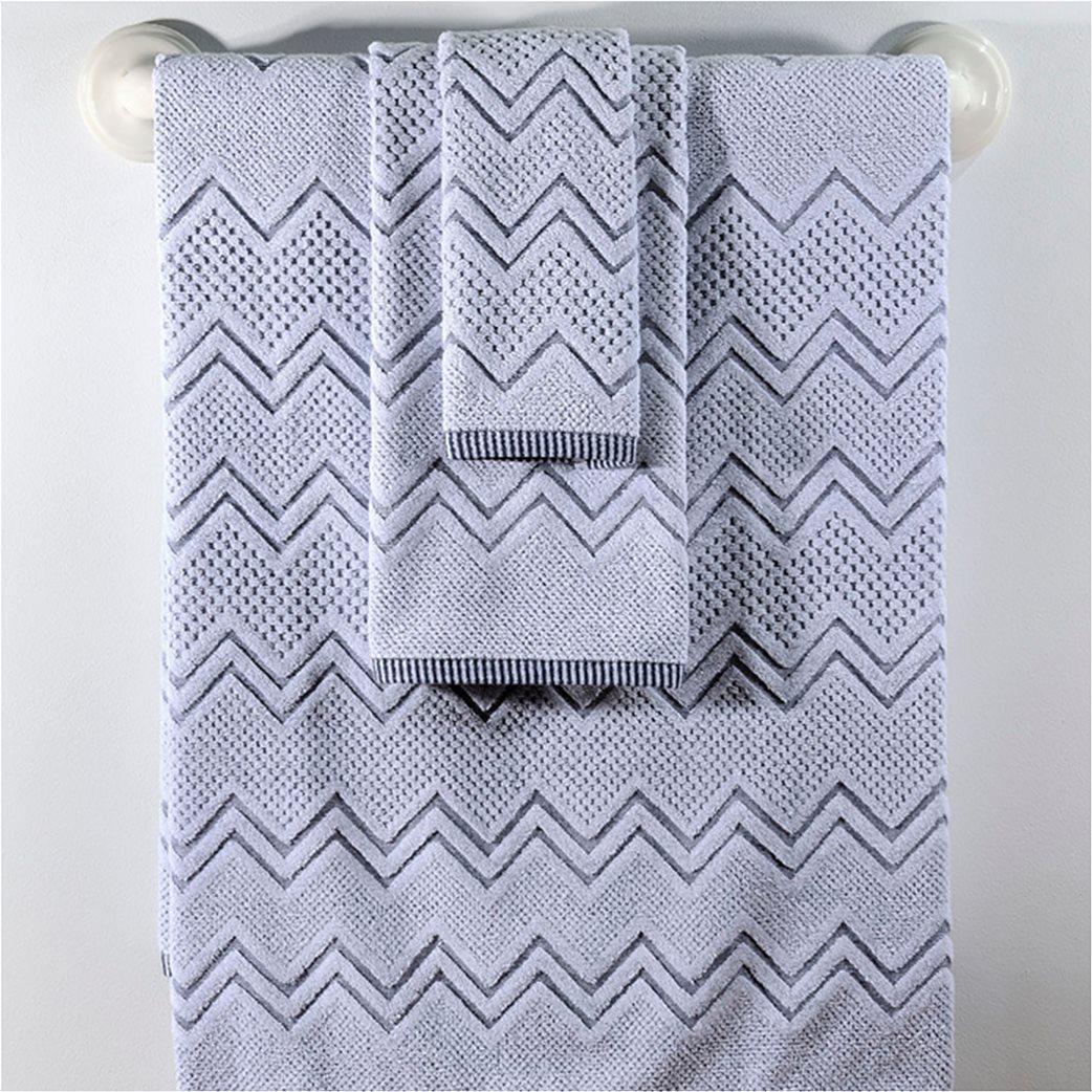 DOWN TOWN Home Σετ πετσέτες μπάνιου Classic 550 Waves (3 τεμάχια)   1