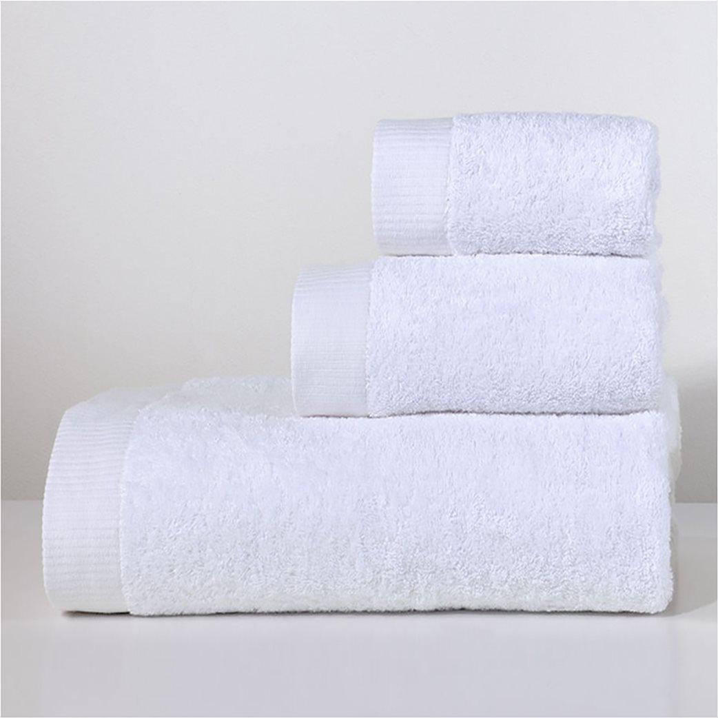 DOWN TOWN Home Σετ πετσέτες μπάνιου Lotus White(3 τεμάχια)   1