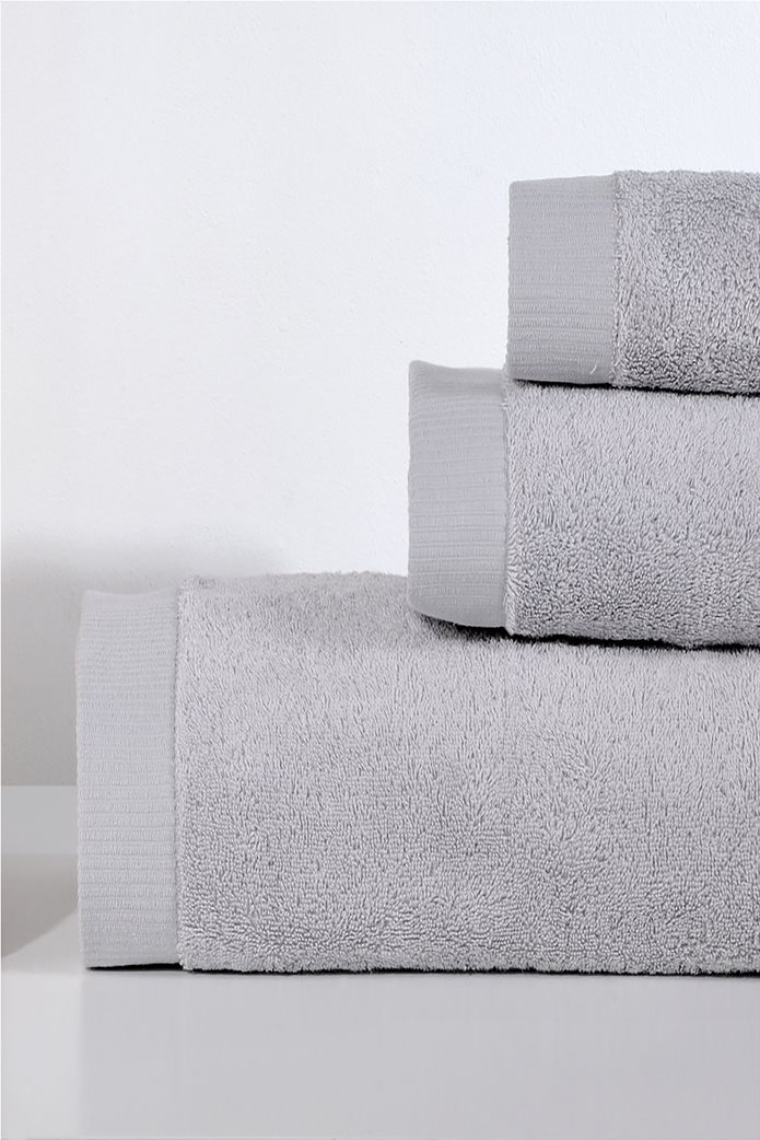 DOWN TOWN Home Σετ πετσέτες μπάνιου Lotus Light Grey (3 τεμάχια)   0
