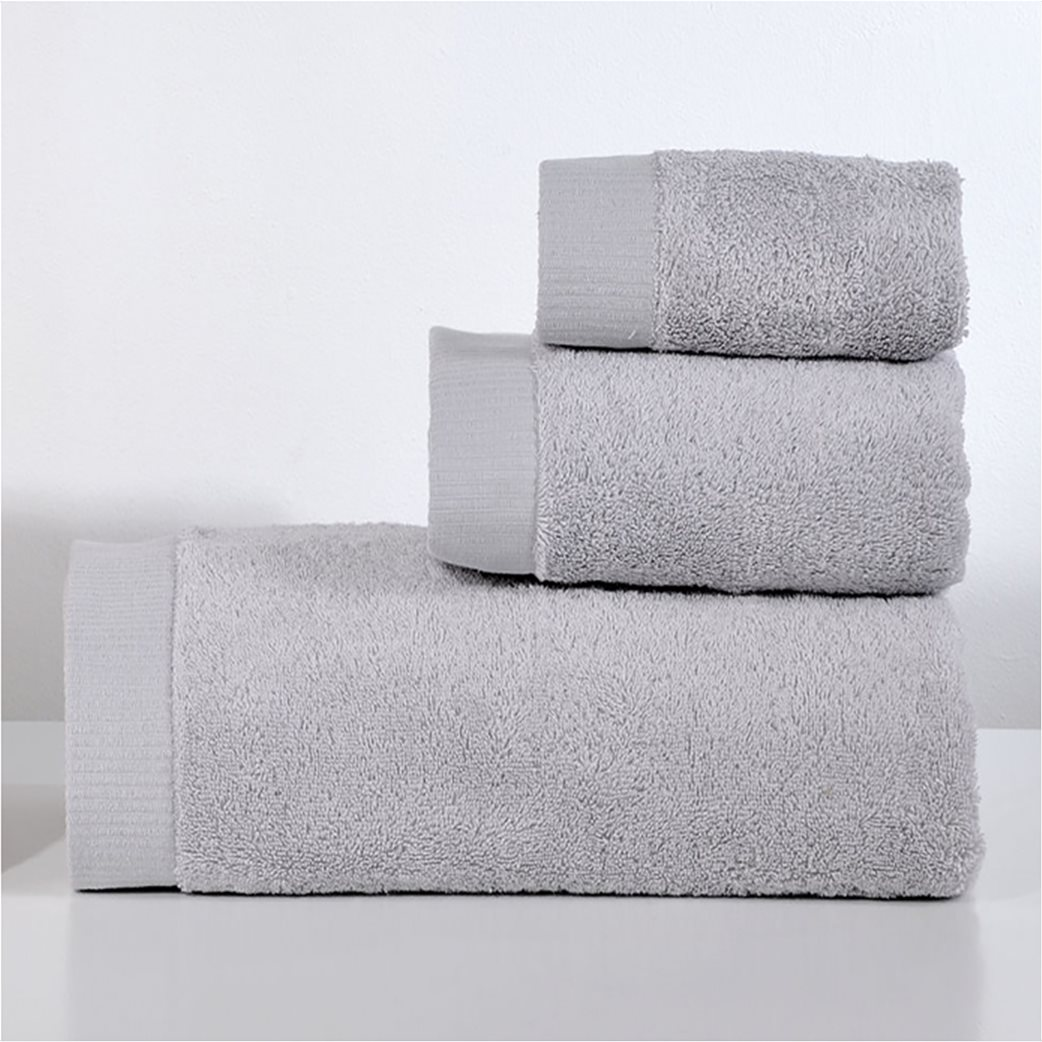 DOWN TOWN Home Σετ πετσέτες μπάνιου Lotus Light Grey (3 τεμάχια)   1