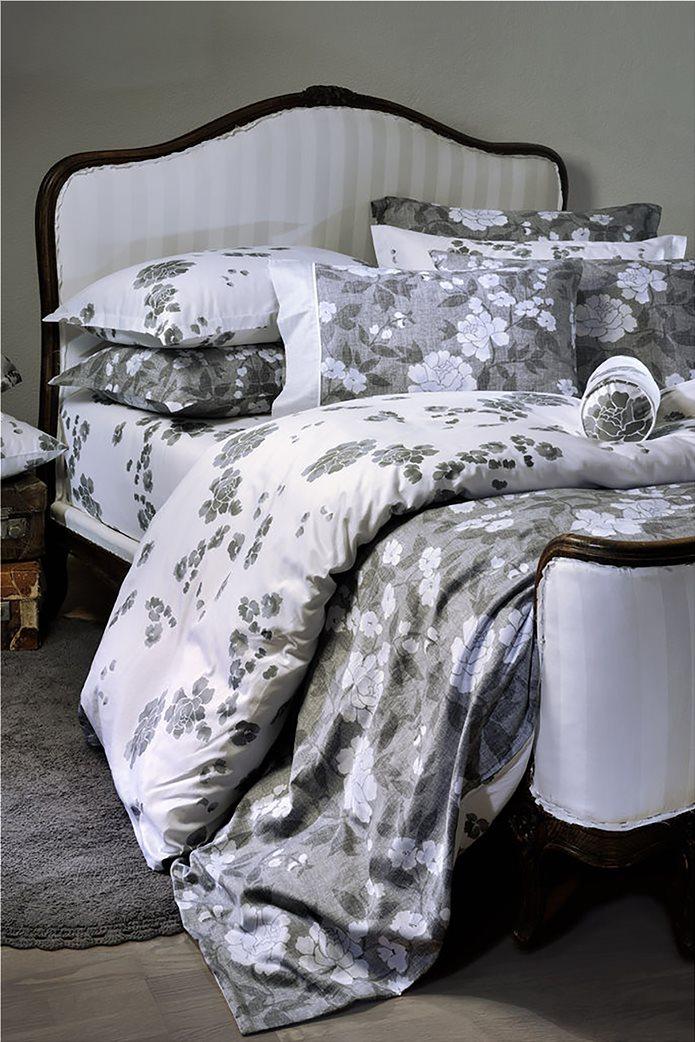 "DOWN TOWN Home Σετ μαξιλαροθήκες για μαξιλάρια ύπνου με floral print ""Oxford 718"" 52 x 75 cm Μαύρο 0"