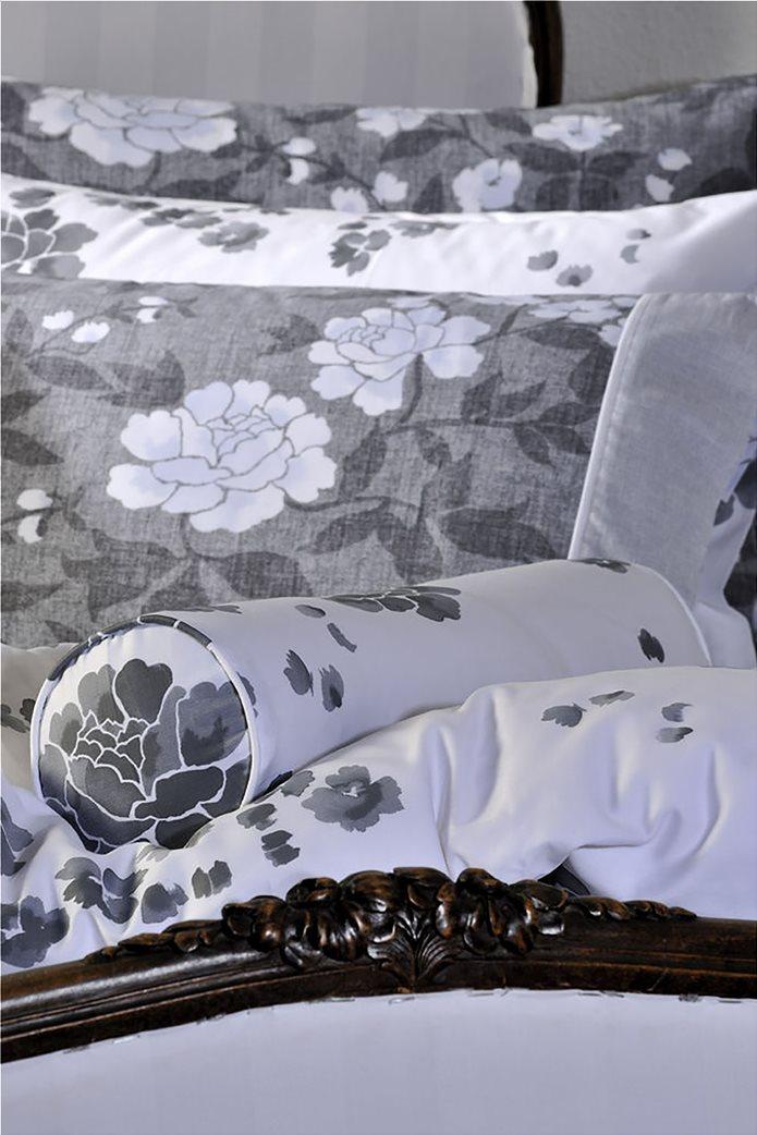 "DOWN TOWN Home Σετ μαξιλαροθήκες για μαξιλάρια ύπνου με floral print ""Oxford 718"" 52 x 75 cm Μαύρο 1"