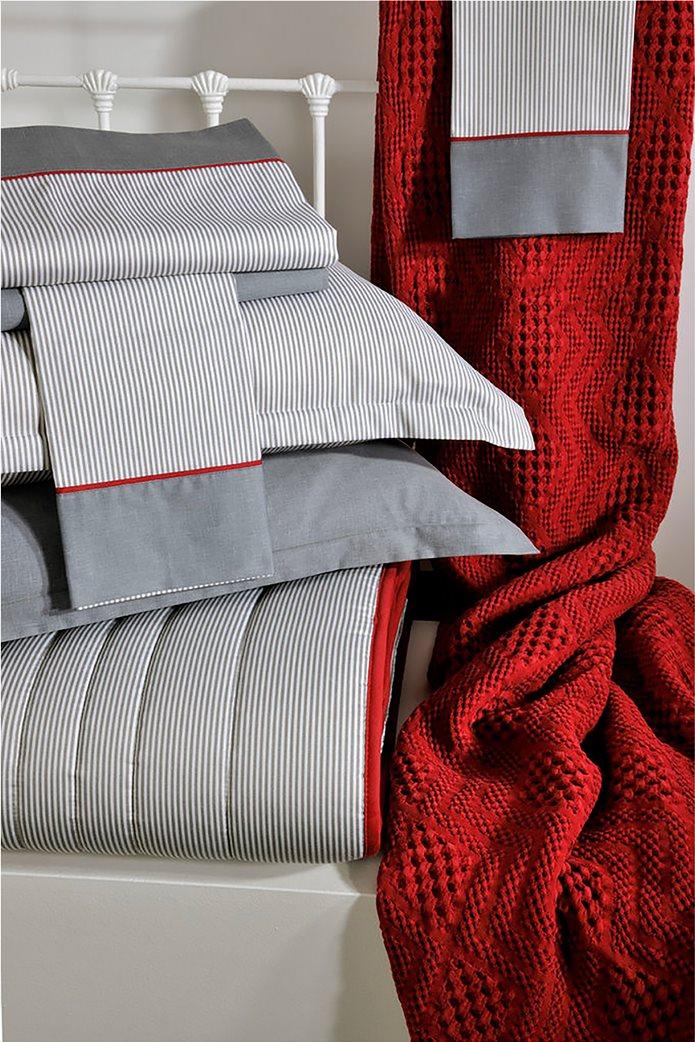 "DOWN TOWN Home κουβέρτα μονή με ανάγλυφο σχέδιο ""871 Bordeaux"" 170 x 240 cm Μπορντό 0"