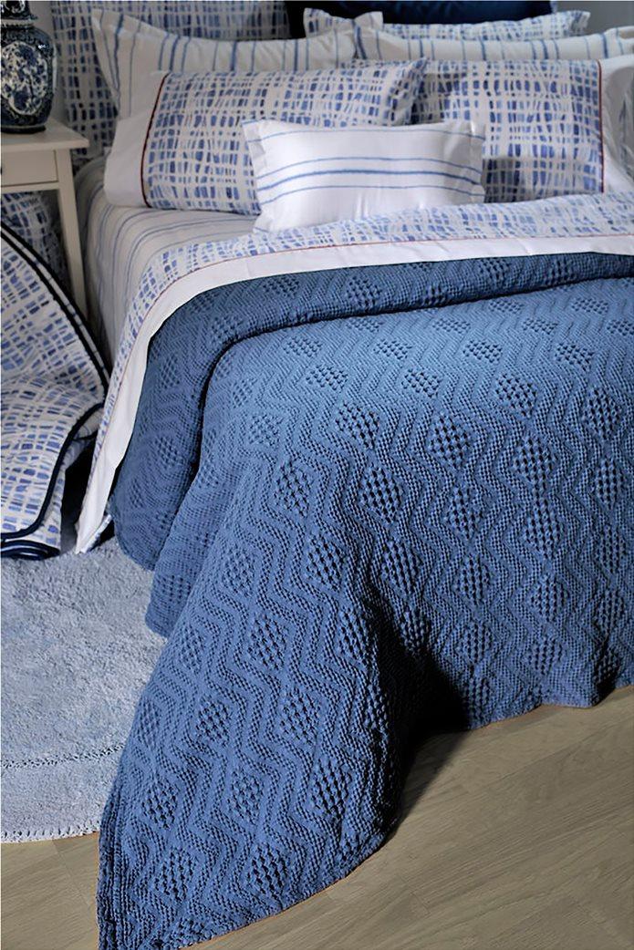 """DOWN TOWN Home κουβέρτα υπέρδιπλη με ανάγλυφο σχέδιο """"871 Blue"""" 230 x 260 cm Μπλε 0"""