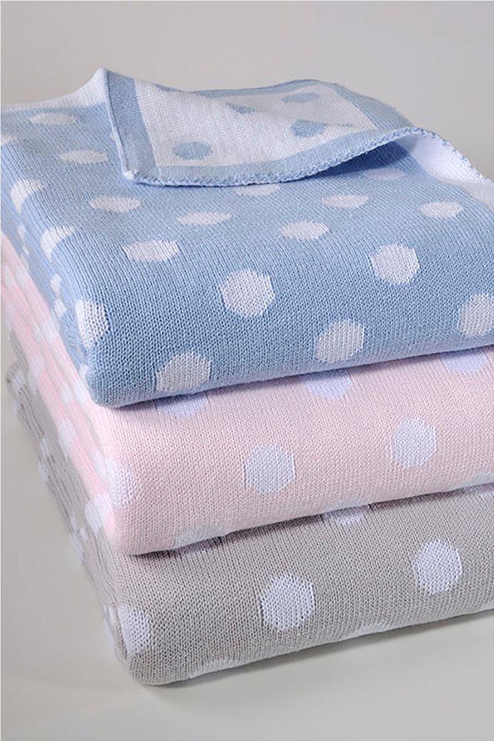 "DOWN TOWN Home βρεφική κουβέρτα κούνιας πουά ""198 Pink"" 90 x 120 cm Ροζ 0"