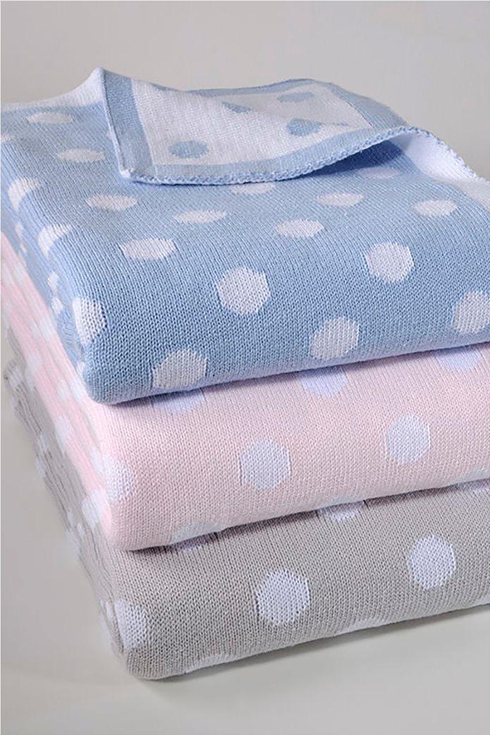 """DOWN TOWN Home βρεφική κουβέρτα κούνιας πουά """"198 Ciel"""" 90 x 120 cm Γαλάζιο 0"""