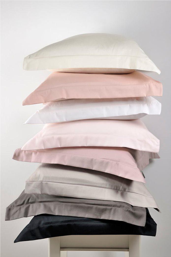 "DOWN TOWN Home Σετ μαξιλαροθήκες για μαξιλάρια ύπνου με διπλό ρέλι ""S39"" 52 x 75 cm Μπεζ 1"