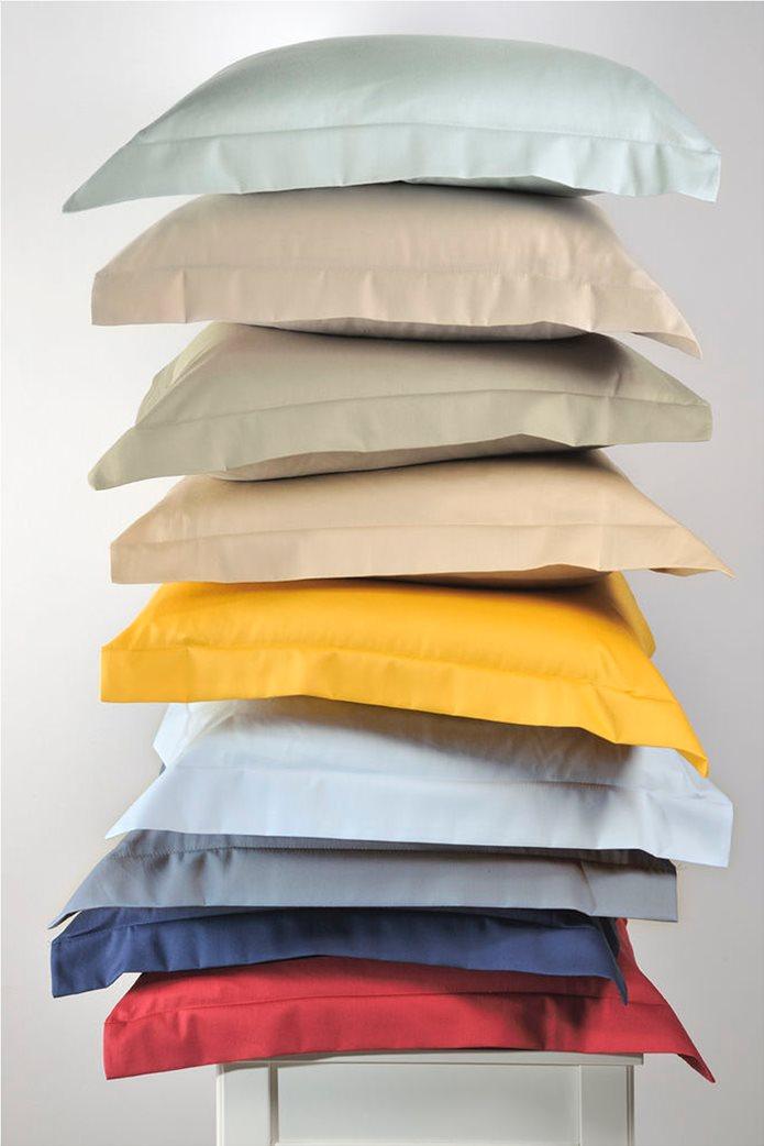 "DOWN TOWN Home Σετ μαξιλαροθήκες για μαξιλάρια ύπνου με διπλό ρέλι ""S39"" 52 x 75 cm Μπεζ 2"