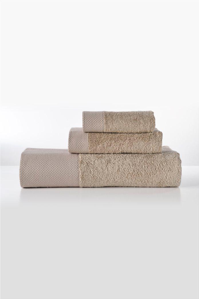 """DOWN TOWN Home σετ πετσέτες μπάνιου """"Dalia Beige"""" (3 τεμάχια) Μπεζ 0"""