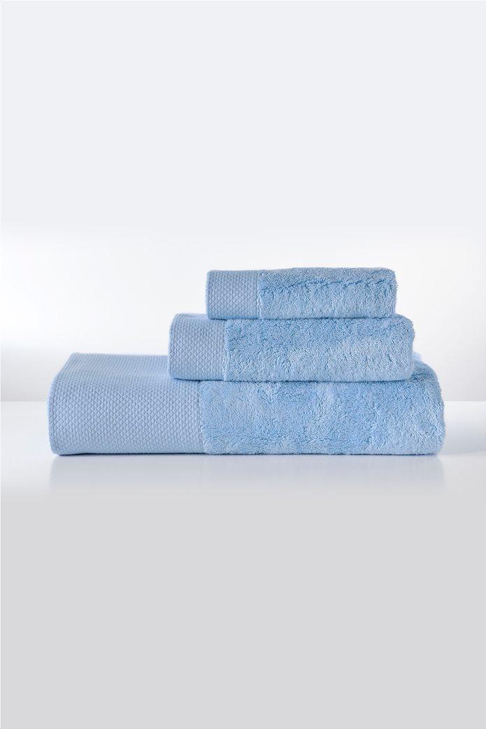 "DOWN TOWN Home σετ πετσέτες μπάνιου ""Dalia Baby Blue"" (3 τεμάχια) Γαλάζιο 0"