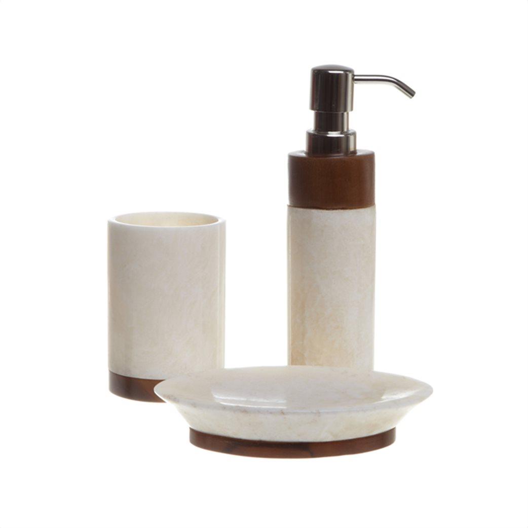 Coincasa θήκη σαπουνιού από όνυχα και ξύλο 10 x 3 x 16 cm 1