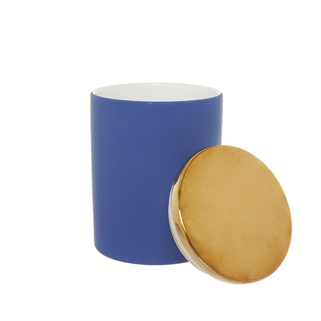 Coincasa κεραμικό διακοσμητικό κουτί με καπάκι 16 x 12 cm Μπλε 1