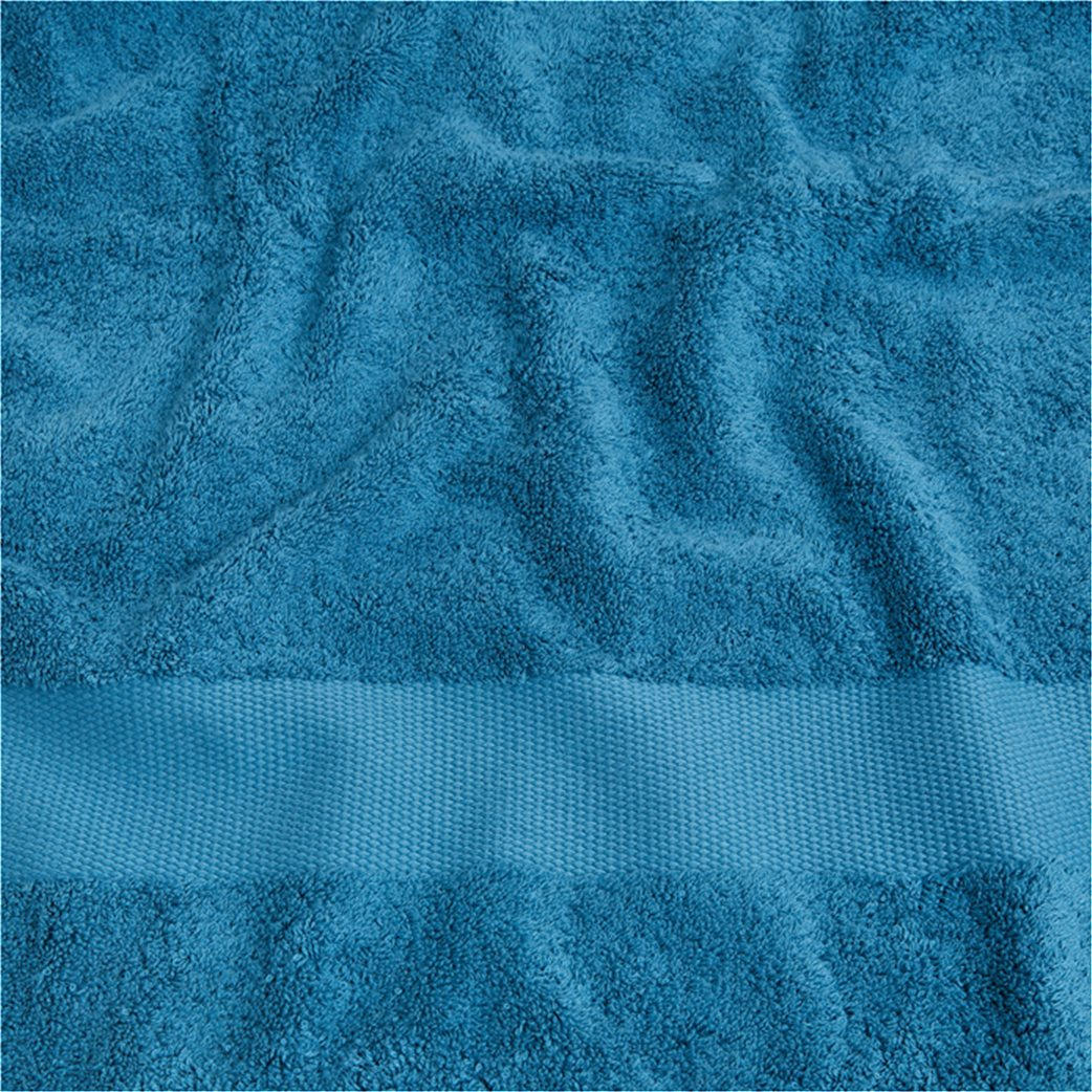 Coincasa πετσέτα μπάνιου μονόχρωμη 140 x 70 cm Μπλε 2
