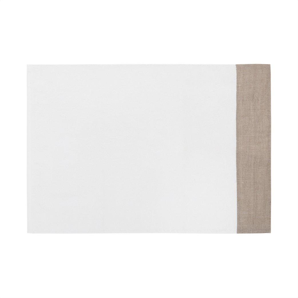 Coincasa πετσέτα μπάνιου με λινή φάσα 90 x 150 cm 1