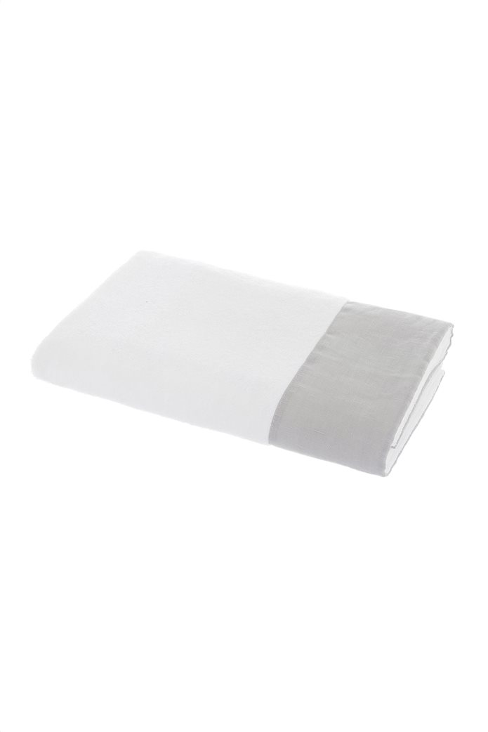 Coincasa πετσέτα προσώπου με λινή φάσα 100 x 60 cm 0