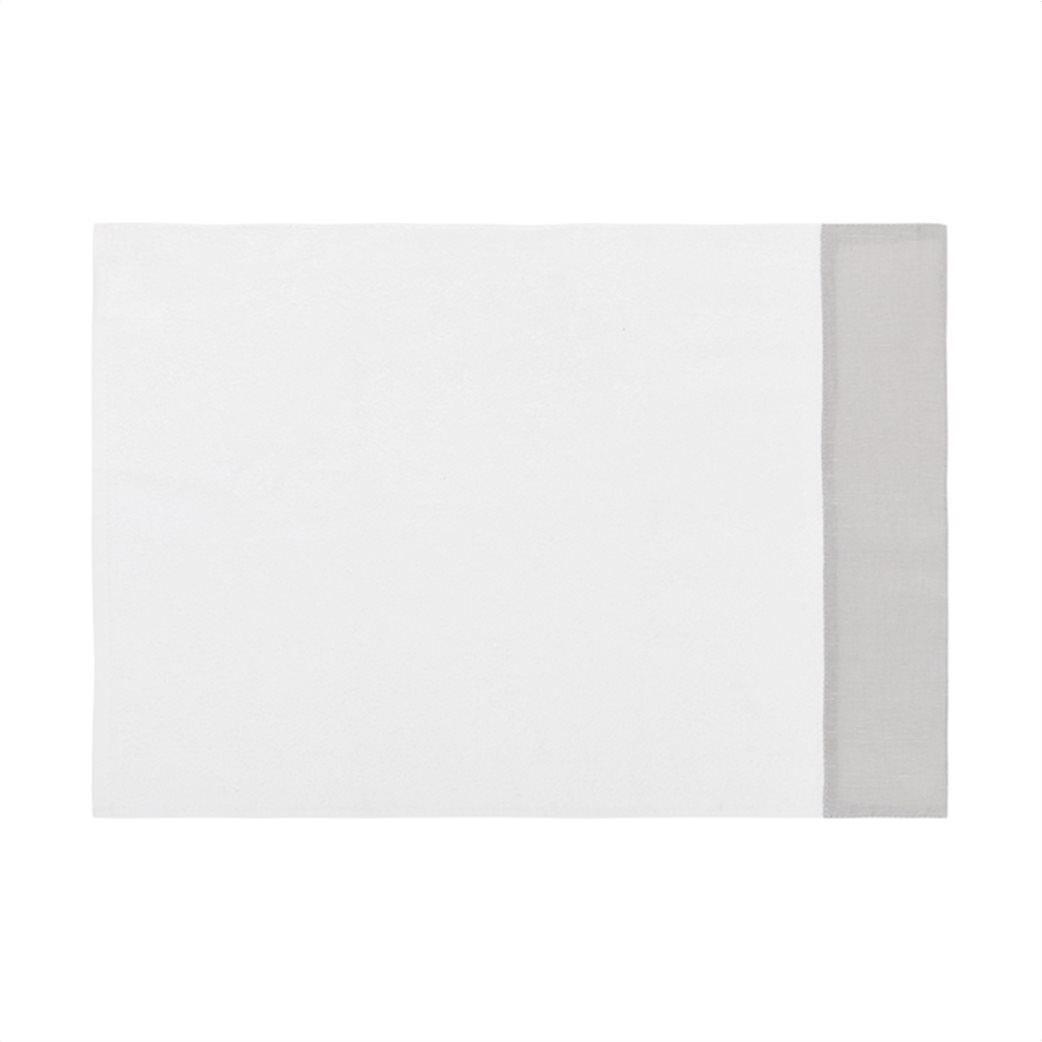 Coincasa πετσέτα προσώπου με λινή φάσα 100 x 60 cm 1