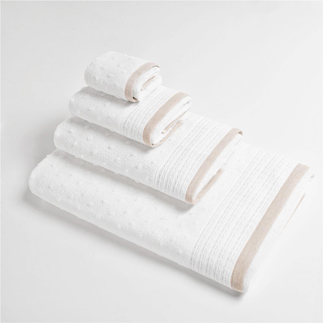 """Coincasa πετσέτα χεριών με ανάγλυφο πουά """"Portofino"""" 40 x 60 cm 1"""