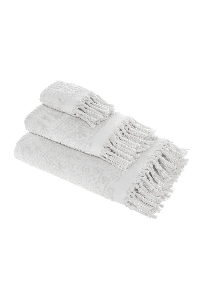 """Coincasa πετσέτα σώματος με ανάγλυφο σχέδιο και κρόσσια """"Thermae"""" 70 x 140 cm 0"""