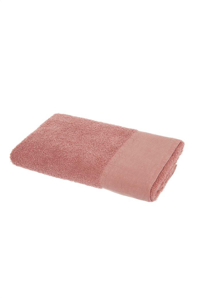 Coincasa πετσέτα μπάνιου από βιολογικό βαμβάκι με λινό τελείωμα  140 x 70 cm 0