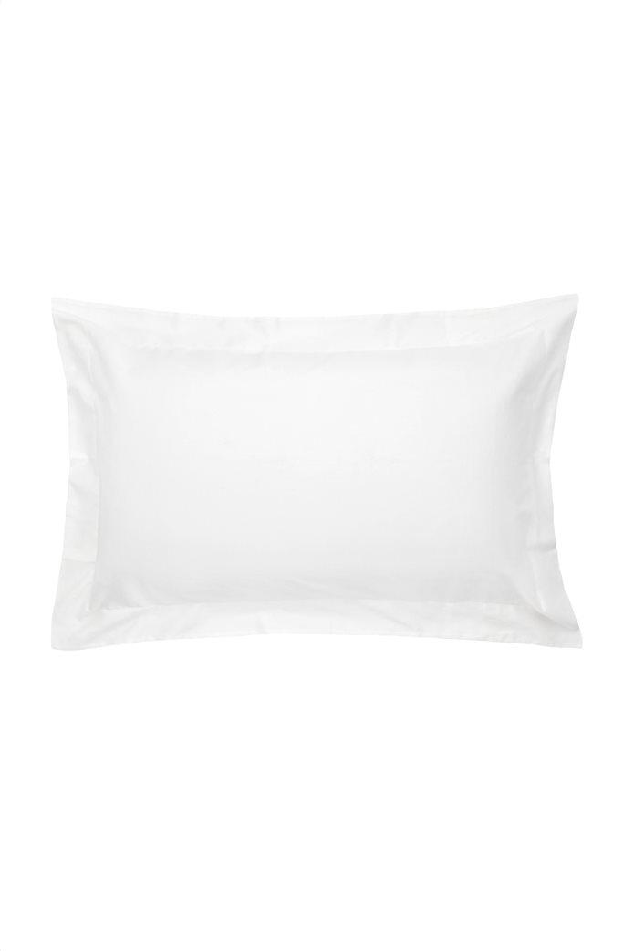 Coincasa μονόχρωμη μαξιλαροθήκη με φάσα 50 x 80 cm Λευκό 0