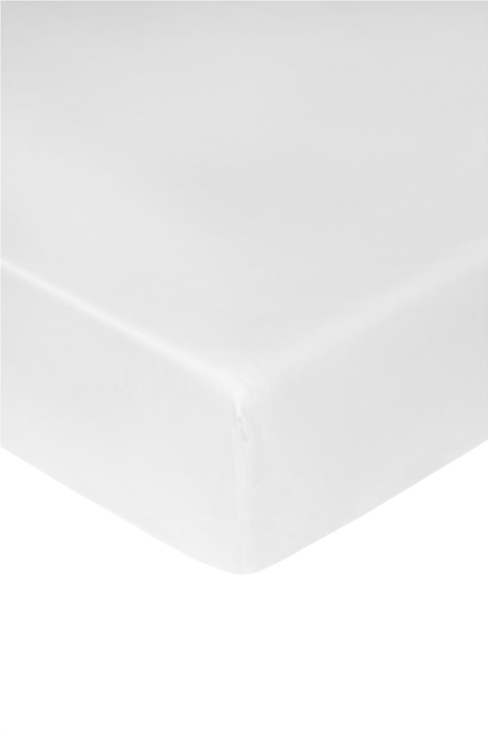 Coincasa σεντόνι μονόχρωμο με λάστιχο 160 x 200 cm Λευκό 0