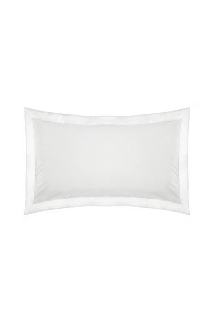 Coincasa μονόχρωμη μαξιλαροθήκη με φάσα 50 x 80 cm 0