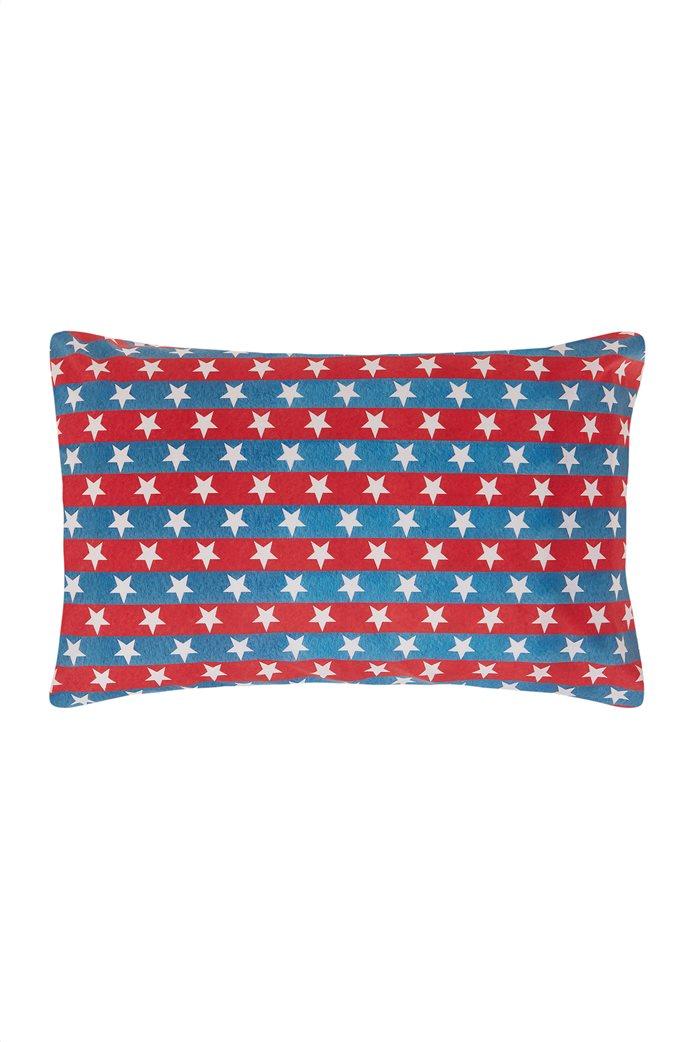 Coincasa διακοσμητικό ριγέ μαξιλάρι με αστέρια 50 x 80 cm 0