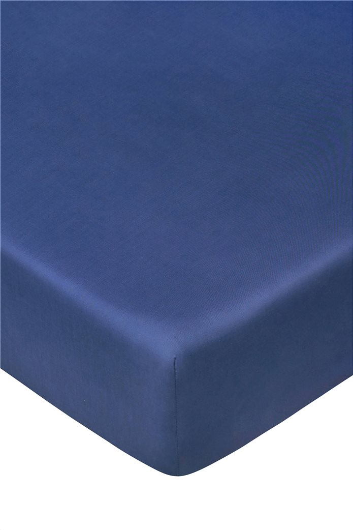 "Coincasa σεντόνι μονόχρωμο ""Zefiro"" 160 x 200 cm Μπλε 0"