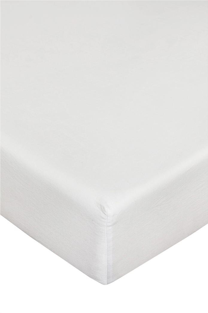 Coincasa διπλό σεντόνι μονόχρωμο 160 x 200 cm Λευκό 0