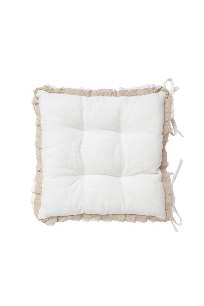Διακοσμητικό μαξιλάρι καρέκλας με δαντέλα 40χ40 Coincasa 0