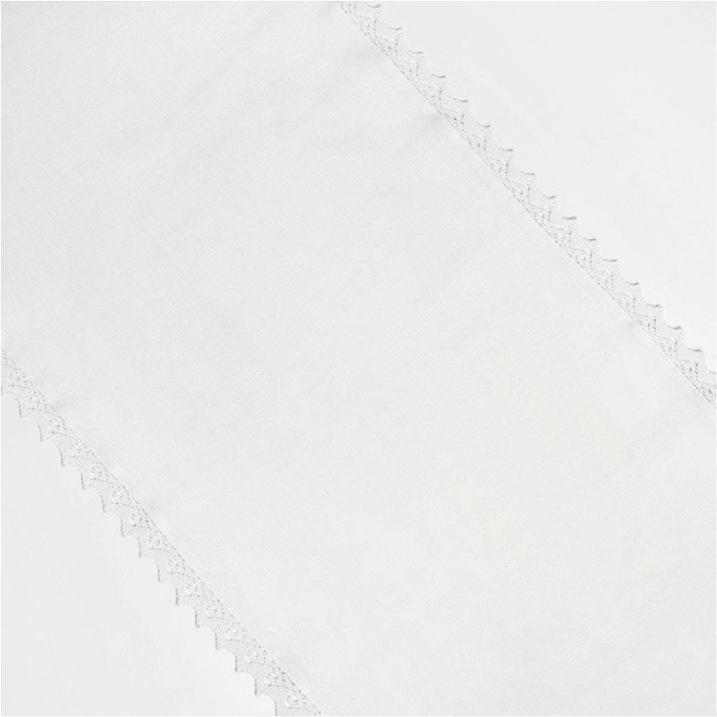 Coincasa runner με δαντέλα 40 x 140 cm Λευκό 1