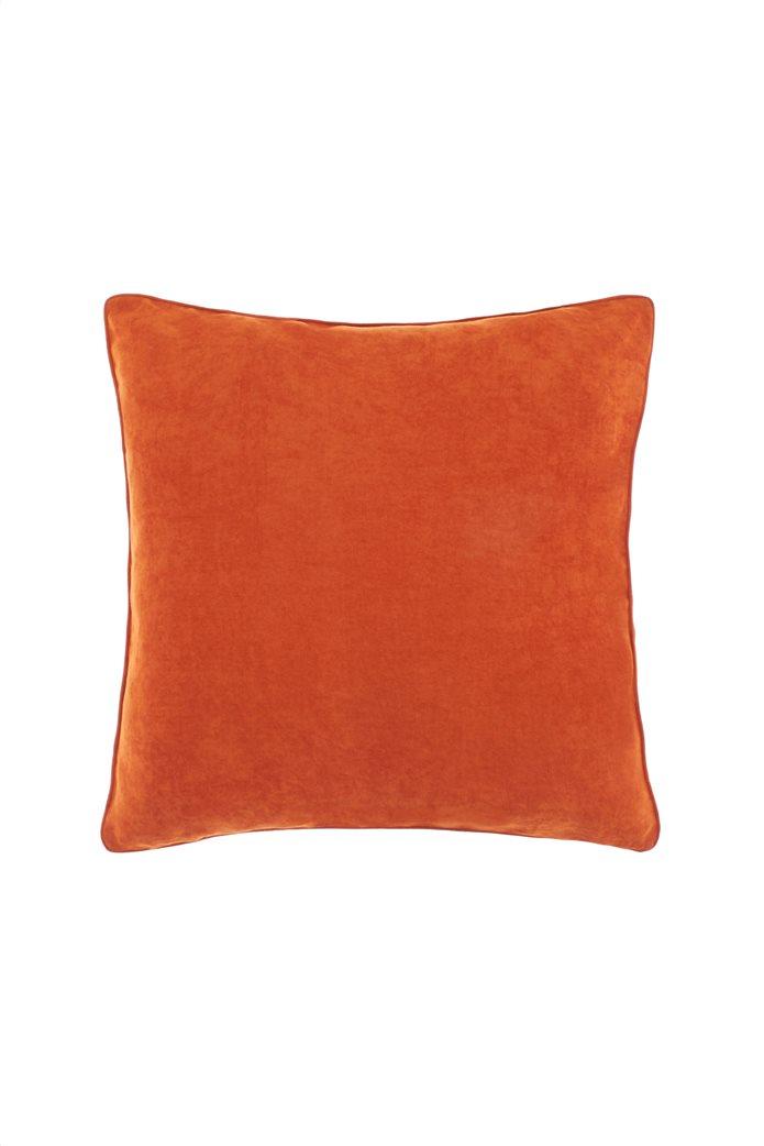 Coincasa διακοσμητικό μαξιλάρι με βελούδινη υφή 45 x 45 cm Πορτοκαλί 0